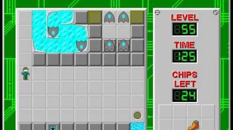 CCLP2 level 55 solution - 77 seconds