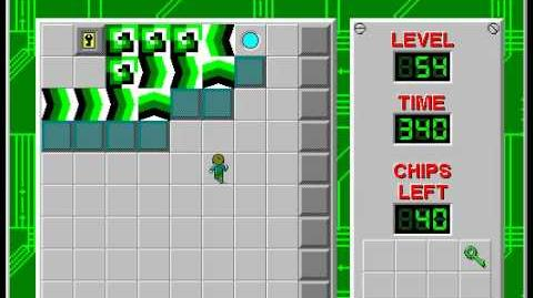 Chip's Challenge 1 level 54 solution - 326 seconds