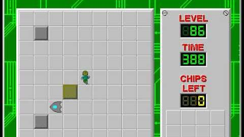 Chip's Challenge 1 level 86 solution - 381 seconds