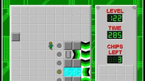 Chip's Challenge 1 level 122 solution - 272 seconds