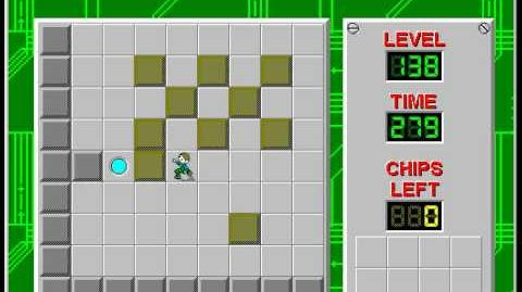 Chip's Challenge 1 level 138 solution - 240 seconds