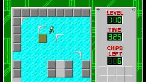 Chip's Challenge 1 level 110 solution - 276 seconds