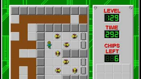 Chip's Challenge 1 level 129 solution - 286 seconds