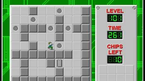 Chip's Challenge 1 level 101 solution - 240 seconds