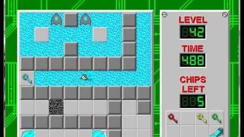 CCLP1 level 42 solution - 416 seconds