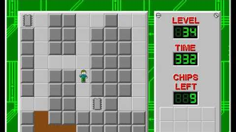 Chip's Challenge 1 level 34 solution - 297 seconds