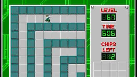 Chip's Challenge 1 level 67 solution - 518 seconds
