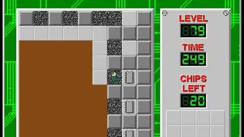 Chip's Challenge 1 level 79 solution - 220 seconds