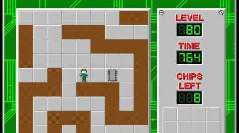 Chip's Challenge 1 level 80 solution - 733 seconds