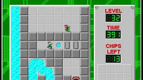 CCLP2 level 32 solution - 377 seconds
