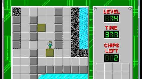Chip's Challenge 1 level 74 solution - 359 seconds
