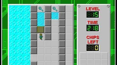 CCLP3 level 15 solution - 195 seconds