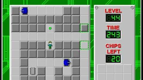 Chip's Challenge 1 level 44 solution - 146 seconds