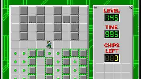 Chip's Challenge 1 level 145 solution - 991 seconds