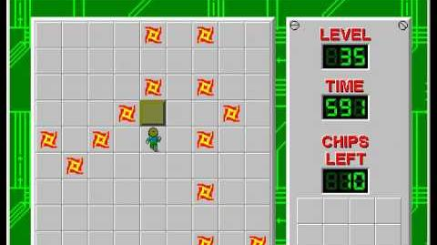 Chip's Challenge 1 level 35 solution - 576 seconds