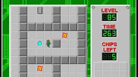 Chip's Challenge 1 level 85 solution - 236 seconds