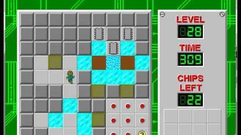 CCLP1 level 28 solution - 274 seconds