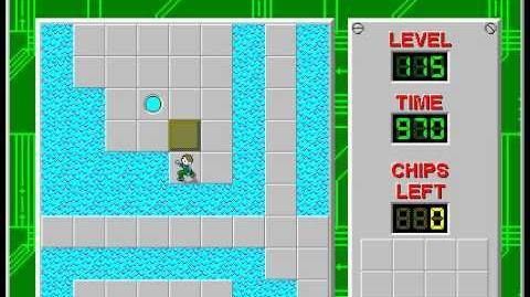 Chip's Challenge 1 level 115 solution - 922 seconds