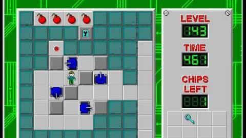 CCLP2 level 143 solution - 406 seconds