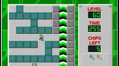 Chip's Challenge 1 level 60 solution - 233 seconds