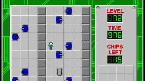 Chip's Challenge 1 level 72 solution - 961 seconds