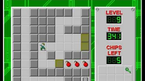 Chip's Challenge 1 level 9 solution - 306 seconds