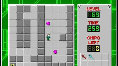 Chip's Challenge 1 level 69 solution - 229 seconds
