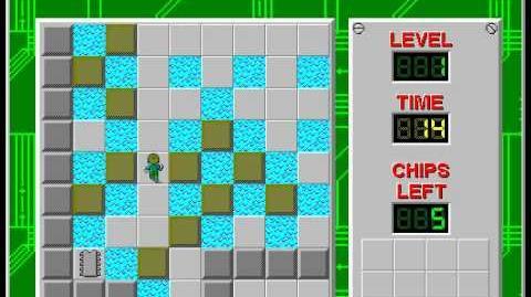 Chip's Challenge 1 level 126 - northwest room solution