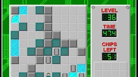 CCLP2 level 36 solution - 447 seconds