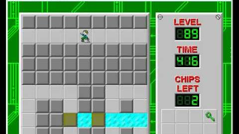 Chip's Challenge 1 level 89 solution - 390 seconds