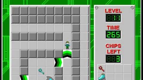 Chip's Challenge 1 level 11 solution - 211 seconds
