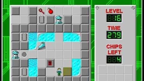 CCLP3 level 16 solution - 254 seconds