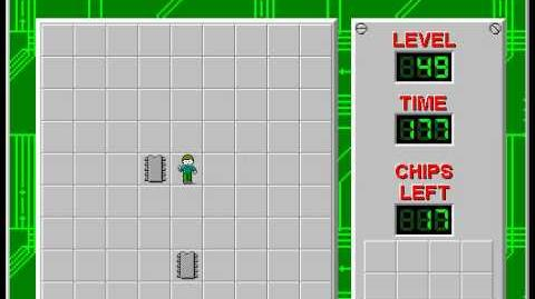 Chip's Challenge 1 level 49 solution - 162 seconds