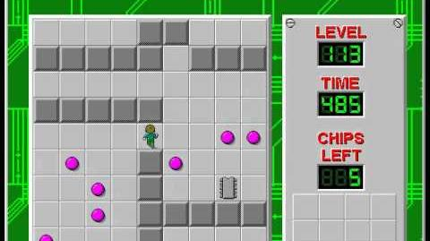 Chip's Challenge 1 level 113 solution - 462 seconds