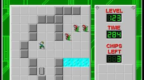 Chip's Challenge 1 level 123 solution - 272 seconds