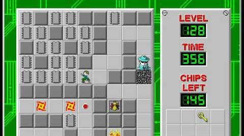 Chip's Challenge 1 level 128 solution - 315 seconds