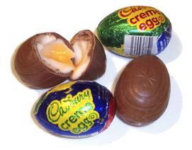Cadbury eggs white