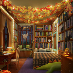 Halloween theme bedroom