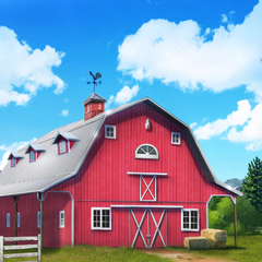 Oakley Ranch barn with a new paint job