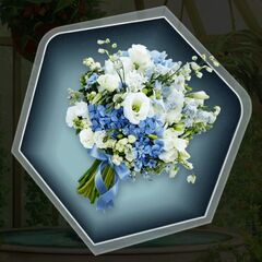 Blue and White Flowers Option