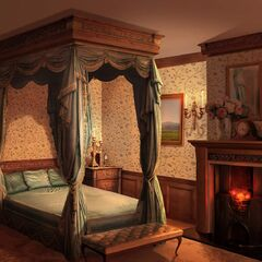 Your character's bedroom in London house (Night)