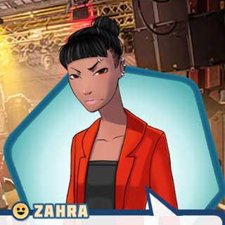 Zahra's look in Ember of Hope