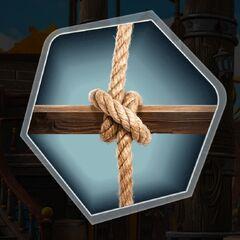 Boatswain clove hitch knot