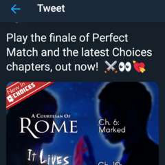 Perfect Match Finale Tweet