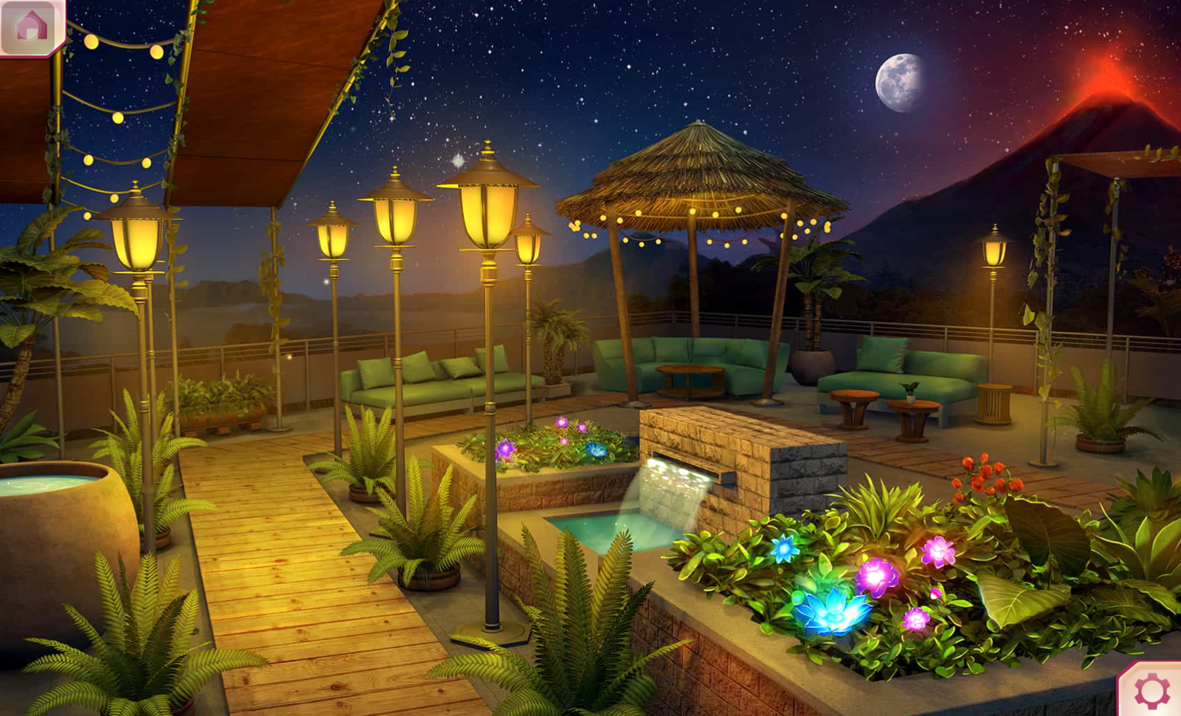 Image - Rooftop garden night by closetdreamer.png | Choices: Stories ...
