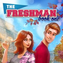 Chris on the cover of The Freshman, Book 1