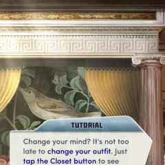 Last Chance to change outfit message