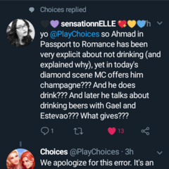 Ahmed not drinking mix up