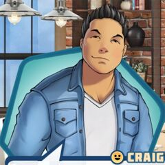 Craig's look in his, Raj, and Zahra's Book 3 visions