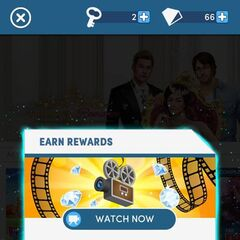 Some Player can watch adds for extra free Diamonds